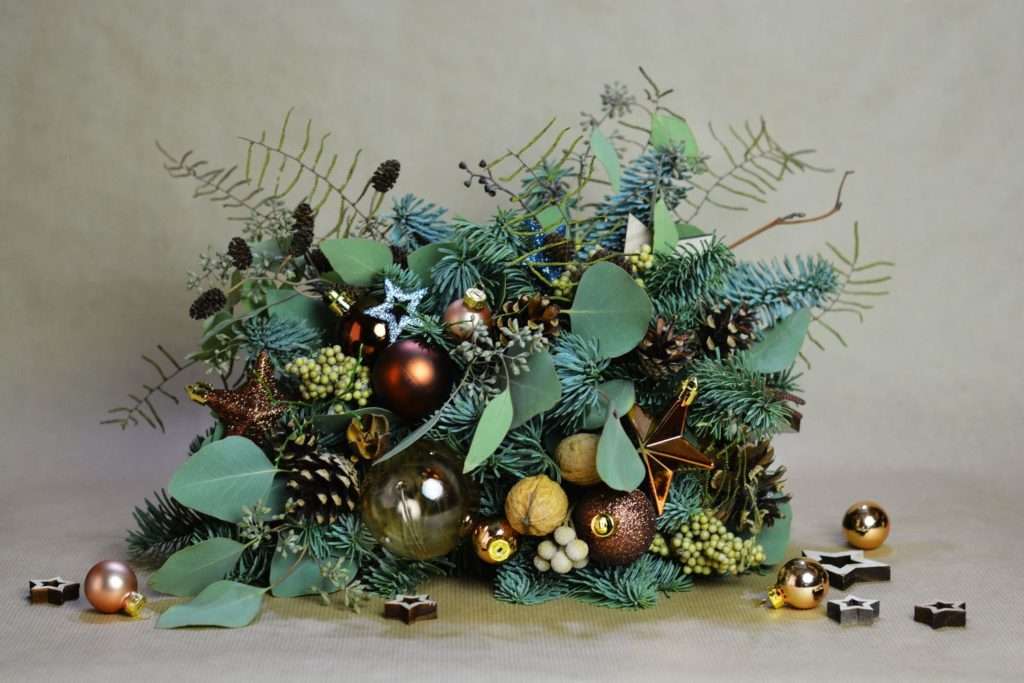 hnědá vánoční dekorace
