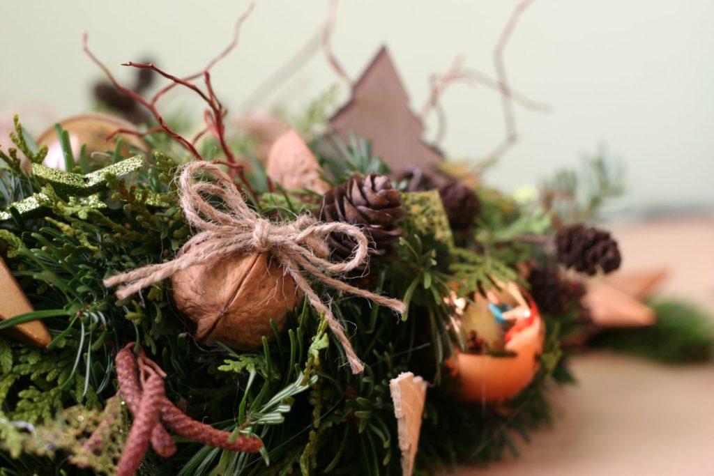 bronzová vánoční dekorace