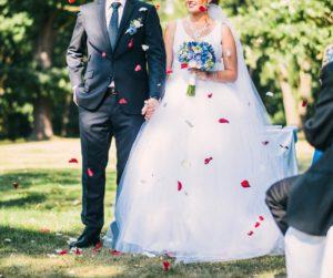 Kompletní svatební květinový servis - Modrá svatba - Modrá svatební kytice pro nevěstu