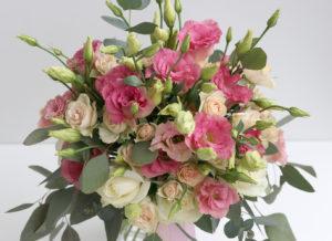 Květinové aranžmá / velká kytice - Růžové a bílé květiny